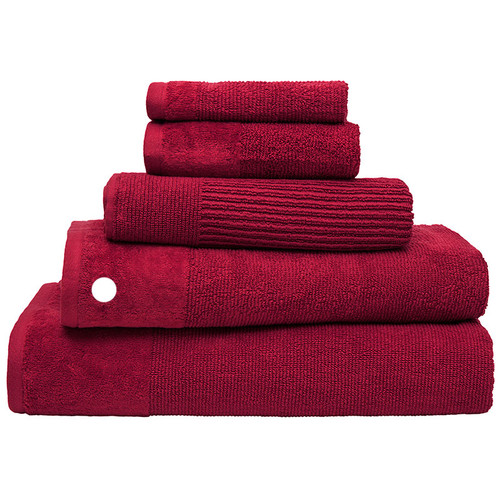 100% Cotton Raspberry Ribbed Towels | Bath Towel