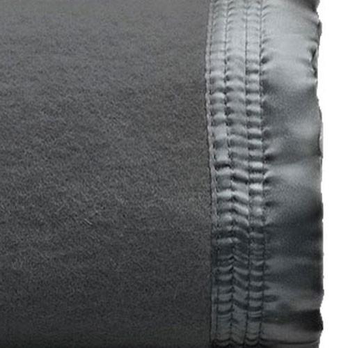 Charcoal 100% Australian Wool Blanket | Single Bed