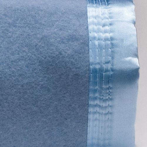 Steel Blue 100% Australian Wool Blanket | Queen Bed