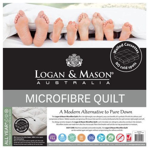 Logan and Mason Microfibre King Bed Quilt