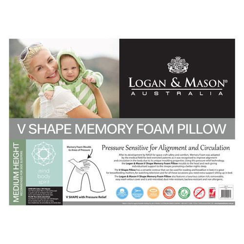 V Shaped Tri Memory Foam Pillow