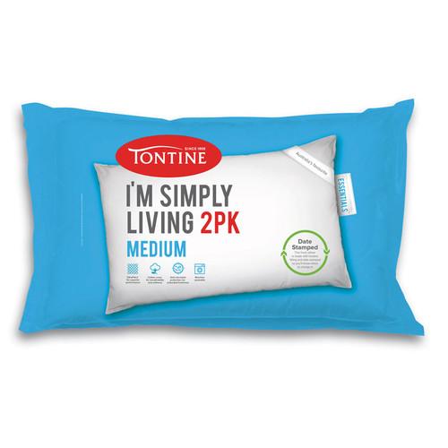 Simply Living Medium Pillow | 2 Pack