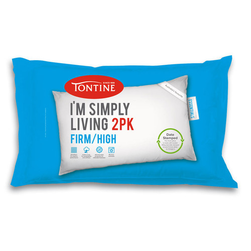 Simply Living Firm / High Pillow | 2 Pack
