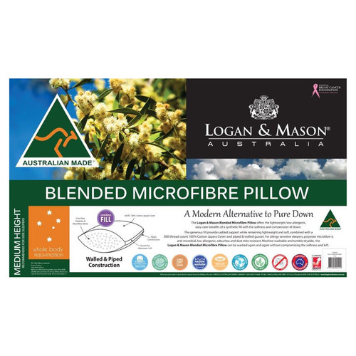 Microfibre Pillow Logan and Mason