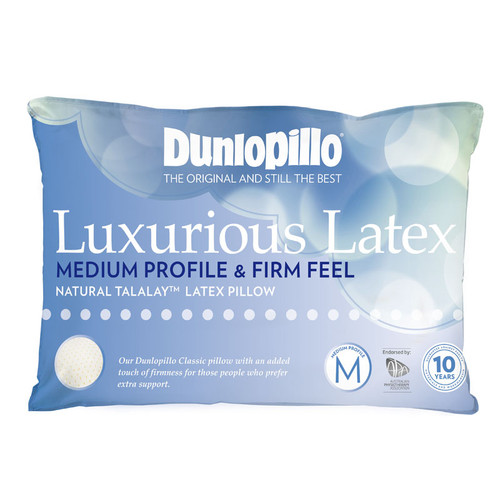 Luxurious Latex Medium Profile Firm Feel Pillow
