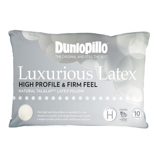 Luxurious Latex High Profile Firm Feel Pillow
