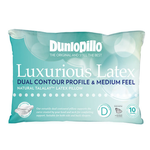 Luxurious Latex Dual Contour Profile Medium Feel Pillow
