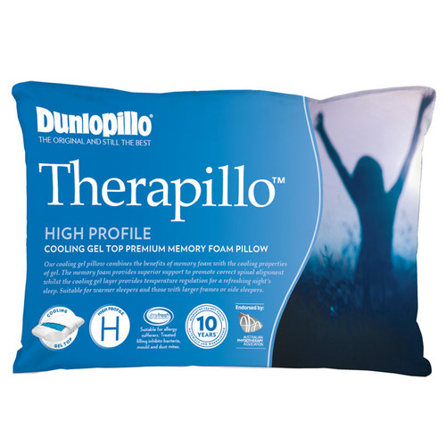 Therapillo Memory Foam Cooling Gel High Profile Pillow