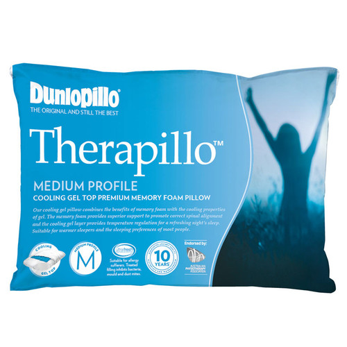 Therapillo Memory Foam Cooling Gel Medium Profile Pillow