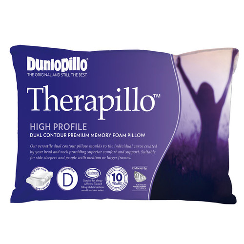 Therapillo Memory Foam Dual Contour High Profile Pillow
