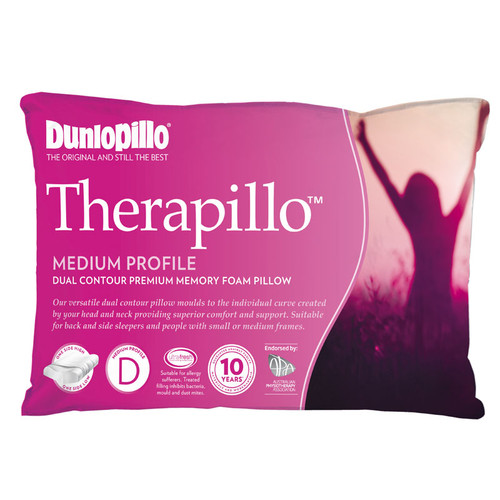 Therapillo Memory Foam Dual Contour Medium Profile Pillow
