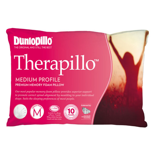 Therapillo Memory Foam Medium Profile Pillow