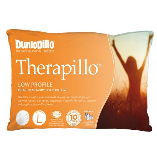 Therapillo Memory Foam Low Profile Pillow