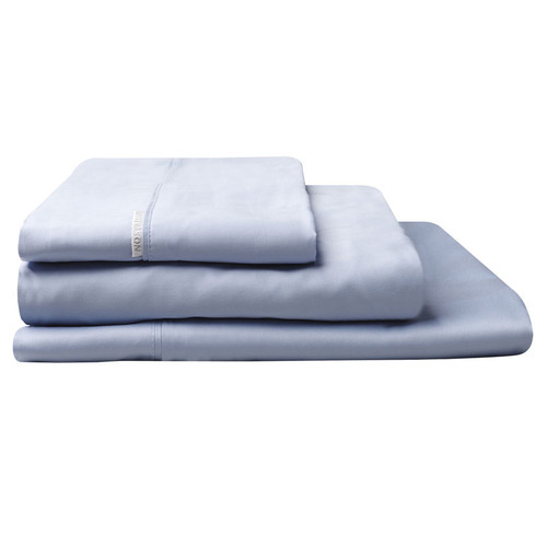100% Egyptian Cotton Sateen Sheet Set 400TC Wedgwood | Single Bed