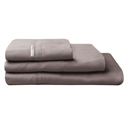 100% Egyptian Cotton Sateen Sheet Set 400TC Stone | King Single Bed