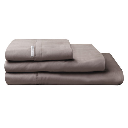 100% Egyptian Cotton Sateen Sheet Set 400TC Stone | Queen Bed