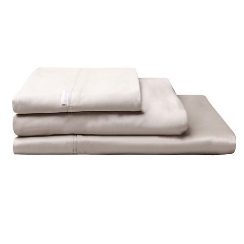 100% Egyptian Cotton Sateen Sheet Set 400TC Linen | Queen 50cm Bed