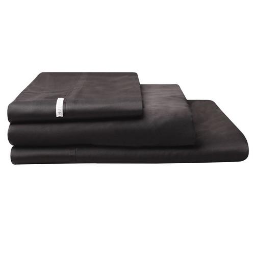 100% Egyptian Cotton Sateen Sheet Set 400TC Granite | King Single Bed