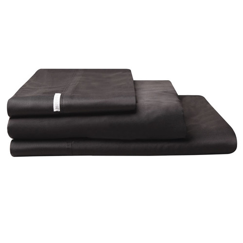100% Egyptian Cotton Sateen Sheet Set 400TC Granite | Super King 60cm Bed