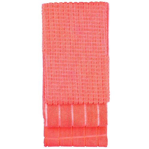 Microfibre Tea Towel Coral