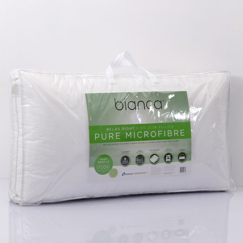 Relax Right Microfibre King Size Pillow + Pillowcase