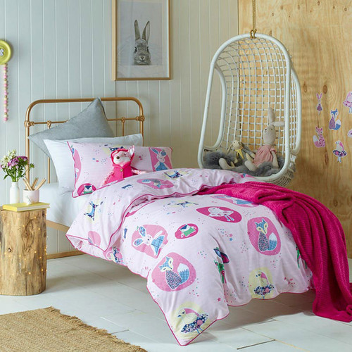 Forest Friends Quilt Cover Set | Double Bed