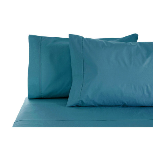 100% Cotton Sheet Set 1000TC Ocean Blue | Queen 50cm Bed