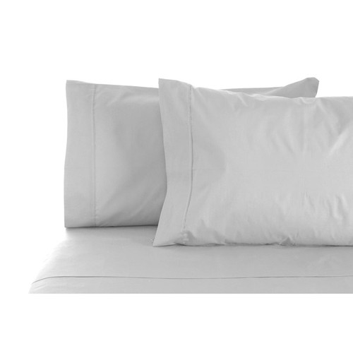 100% Cotton Sheet Set 1000TC Silver | Queen Bed