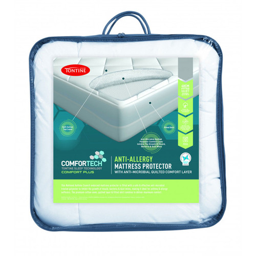 Comfortech Anti-Allergy Fitted Mattress Protector | King Single Bed
