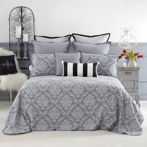 Fleur Grey Bedspread Set | Single Bed