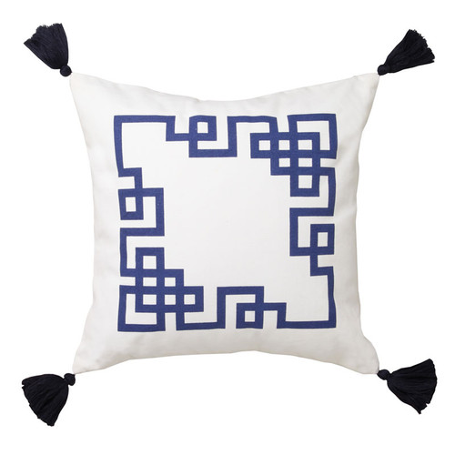 Kowloon Navy Square Filled Cushion