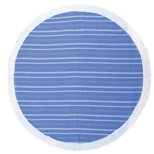 Express Horizon Ultramarine Round Beach Towel
