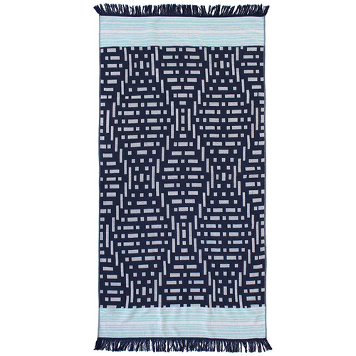 Express Kai Navy Beach Towel