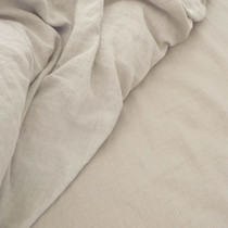 Natural Cream Linen Sheet Set by Jenny Mclean
