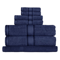 100% Cotton Navy Blue 7pc Bath Towel Set