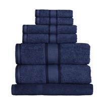 100% Cotton Navy Blue 7pc Bath Sheet Set