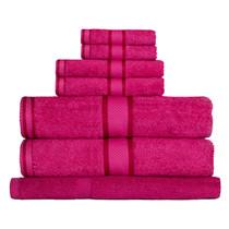 100% Cotton Fuchsia / Hot Pink 7pc Bath Towel Set