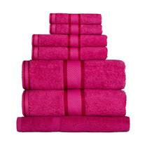 100% Cotton Fuchsia / Hot Pink 7pc Bath Sheet Set