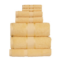 100% Cotton Yellow 7pc Bath Sheet Set