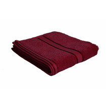 100% Cotton Burgundy Hand Towel