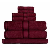 100% Cotton Burgundy 7pc Bath Towel Set