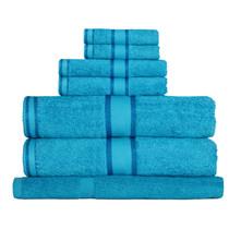 100% Cotton Bright Aqua 7pc Bath Towel Set