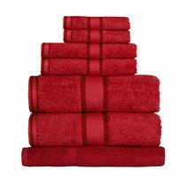 100% Cotton Red 7pc Bath Sheet Set
