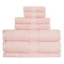 100% Cotton Baby Pink 7pc Bath Towel Set