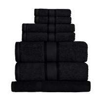 100% Cotton Black 7pc Bath Sheet Set