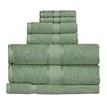 100% Cotton Frost Green 7pc Bath Towel Set