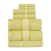 100% Cotton Apple Green 7pc Bath Sheet Set
