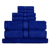 100% Cotton Royal Blue 7pc Bath Towel Set