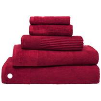 100% Cotton Costa Raspberry Ribbed Bath Sheet