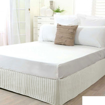 Single Bed Cream Quilted Valance
